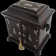 Antique Table Cabinet Rosewood Compendium - 19th Century, England
