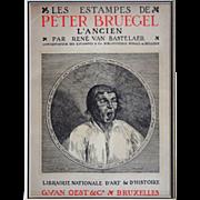 Yawning Man after Peter Bruegel the Elder Engraving Watermark - 1908, Belgium