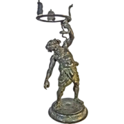 SOLD Garden Sculpture Planter Stand God of Wine Bacchus Serpent Bronze after Amodio