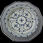 Blue Denmark Reticulated Plate Schumann Mark - 1932-1944, Germany
