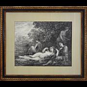 Baigneuses (Bathers) Lithograph after Fantin Latour - c. 1898, France