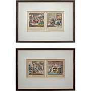 Napoleonic Satires after James Gillray Colored Etchings John Miller Edition - 19th Century, ..