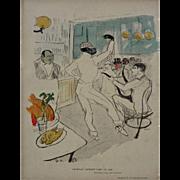 Chocolat Dansant dans un Bar after Henri de Toulouse-Lautrec - 1896, France