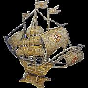 Spanish Armada Galleon Solid Silver 833 Filigree - 1939 or later, Portugal