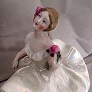 Bavaria Dresser Doll, Green Skirt, White Airy Top