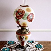 Vintage GWTW Hand Painted Artist Signed Table Lamp