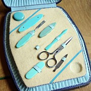 Vintage Manicure Set In Case