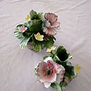 Capodimonte Delicate Porcelain Candle Holders