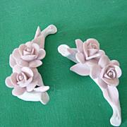 Nuova Capodimonte Fine China Pink Roses On White Base
