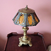 Vintage Art Glass Table Lamp
