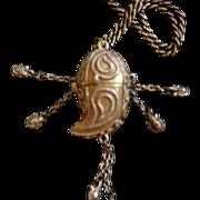 Vintage Avon Azure Perfume Drop Pennant Necklace