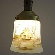 Vintage Italian Hand Painted Hanging Light