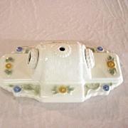 Antique Porcelain Double Bulb Ceiling Light Fixture