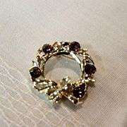 Gerrys Amethyst Stones In Gold Pot Metal Brooch