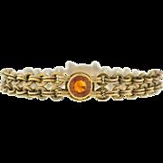 Art Deco 18kt Gold Chain & Citrine Bracelet