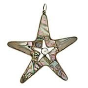 Vintage Los Castillo Abalone Shell Starfish Pendant