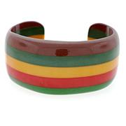 Retro Laminated Bakelite Cuff Bracelet