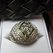 18K Gold Sonia B Cognac  Diamond Dome Ring