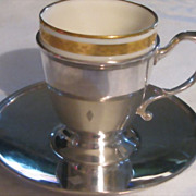 Tiffany & Co.  Sterling Silver Demitasse Cups and Saucers