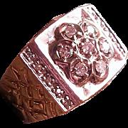 SALE Man's Classic Diamond Cluster Ring