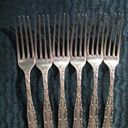 SOLD Tiffany & Co Sterling Silver Wave Edge Luncheon Forks