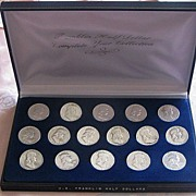 REDUCED Franklin Silver Half Dollar Coin Collection 1948-1963