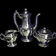 Antique Willcox Sterling Silver Tea Service