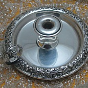 Repousse Sterling Silver Chamberstick by S. Kirk & Son