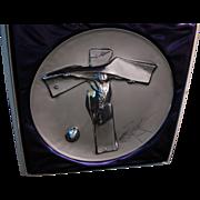 SALE Salvador Dali 1972 Sterling Silver SIGNED Art Plate