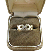 14kt Gold & Diamond XXX band ring