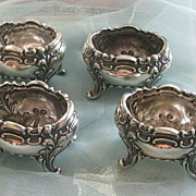 Set of 4 Simon Bros. & Co: Sterling Silver Open Salts