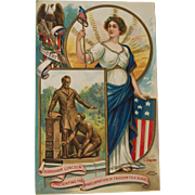 Abraham Lincoln  and Emancipation Proclamation Postcard, C. Chapman