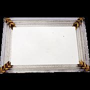 Vintage Glass Edged Mirror Vanity Tray