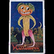 Vintage 1908 Halloween Postcard, Bernardt Wall