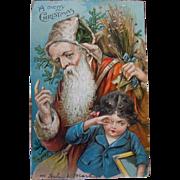 Father Christmas Old World Postcard, 1906