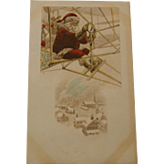 Early Santa Postcard in Airplane, 1912