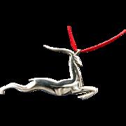 Sterling Gazelle Handmade Christmas Ornament/ Pendant
