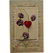 Valentine Postcard with Butterfly Hearts, John Winsch