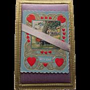 Vintage Valentine Satin Postcard