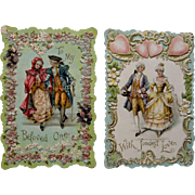 Pair Early Century Valentine Cards