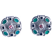 NF Sterling Earrings with Multi Colored Stones