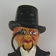 SALE Coro Late 1930's Charlie McCarthy Mechanical Figural Fur Clip Book Piece