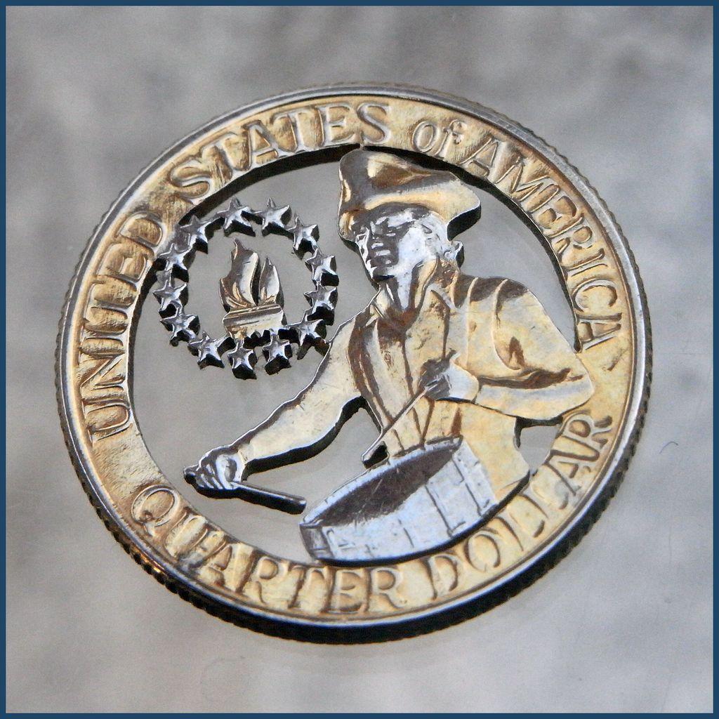 Vintage Hand Cut Bicentennial Quarter Drummer Boy Coin ...