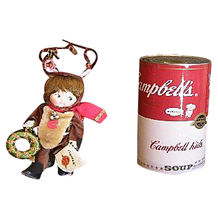 Campbell's soup bisque reindeer doll soooo cute
