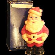 Vintage Santa candle