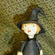 Primitive Folk art Witch by Jude Kapron