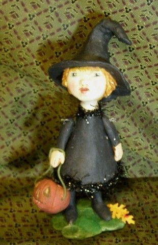 Primitive Folk art Witch by Jude Kapron
