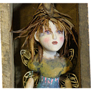 Primitive Art doll fairy/faerie by Jude Kapron
