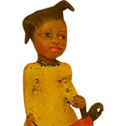 SOLD Black primitive doll by Jude Kapron