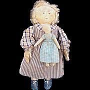 Vintage artist primitive Folk Art doll